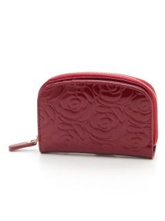 花柄エンボス財布