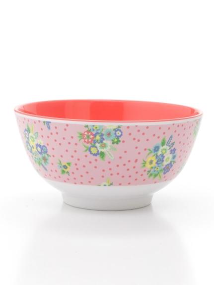 rice (ライス) プリントメラミンボウルヴィンテージフラワー ピンク