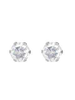 Pt900天然ダイヤモンド計0.3ctプラチナ6本爪スタッドピアス