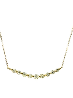 K18YG天然ダイヤモンド計0.4ctラインネックレス