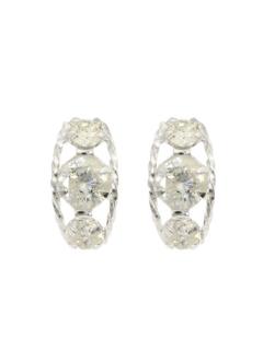 天然ダイヤモンド0.3ctローブピアス