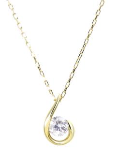 K18ゴールド天然ダイヤモンド0.1ctドロップネックレス