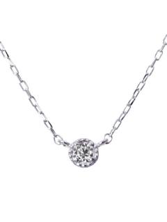 K18ゴールド天然ダイヤモンド0.03ct一粒ネックレス