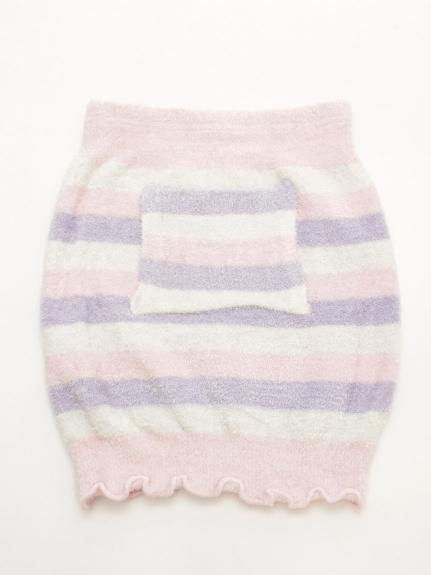 T・S・L (トウキョウサンレディー) 【温ったか】3色ボーダーハラマキ ピンク