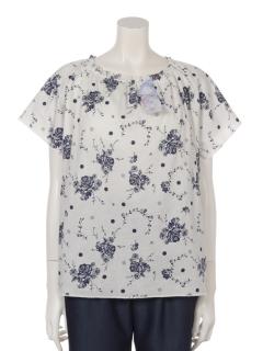 【くつろぎ】くつろぎ花柄パッド入りTシャツ