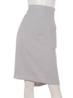 バックプリーツシフォンタイトスカート