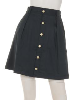 前ボタン台形スカート