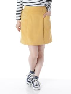 シャギー無地台形スカート