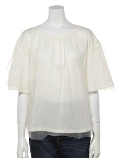 チュール重ねTシャツ