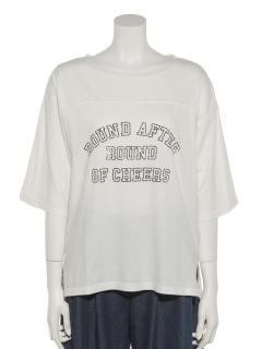 ピグメント加工ロゴTシャツ