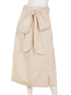 巻きリボンベルトロングスカート