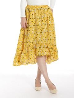 花柄裾切替フリルスカート