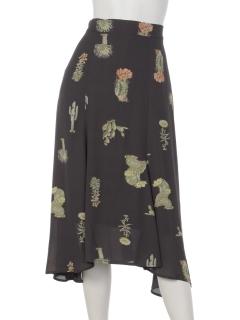 サボテン柄イレヘムスカート