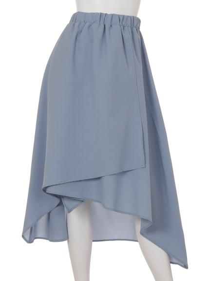 Ray Cassin (レイカズン) イレヘムラップスカート ブルー