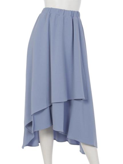 Ray Cassin (レイカズン) カットジョーゼットイレヘムラップスカート ブルー