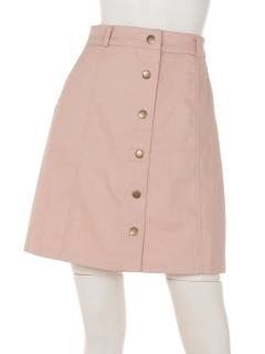 前釦カツラギ台形スカート
