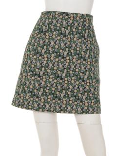 花柄ジャガード台形スカート