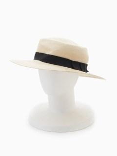 つば広ペーパーカンカン帽