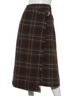 タータンチェックラップスカート