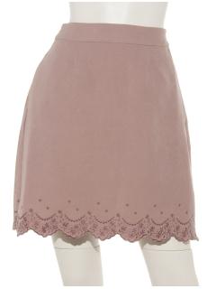 スカラップ刺繍台形スカート