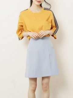 二重織りポケット付き台形スカート