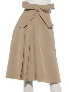 リボン付きタックフレアスカート