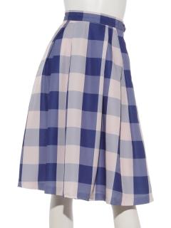 ビックギンガムチェックフレアスカート