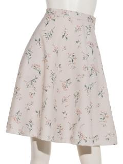 飛び花柄サーキュラースカート
