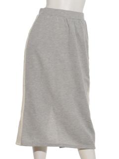 サイドライン裏毛スカート