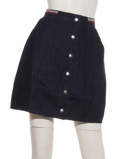 配色ゴム台形スカート
