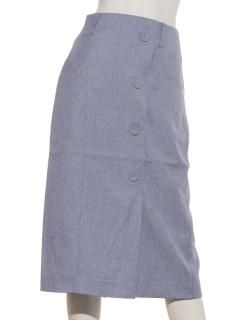 前ボタンペンシルスカート
