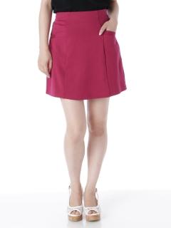 二重織りポンチ台形スカート