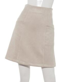 ポンチスウェード台形スカート