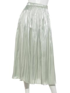 オーロラサテン×ラメチュールスカート