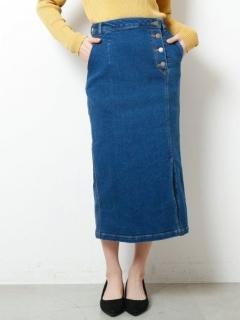 ストレッチデニムタイトスカート