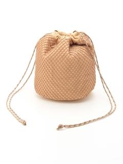 メッシュキャンバス巾着バッグ