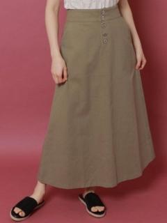 ボタンフライチノセミフレアスカート