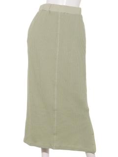 ざっくりリブナロースカート