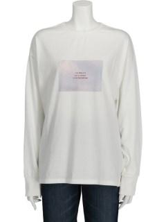 スカイカラーロゴプリントTシャツ