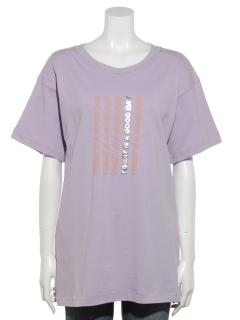 配色ロゴチュニックTシャツ