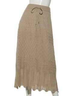 スカラップクロシェスカート