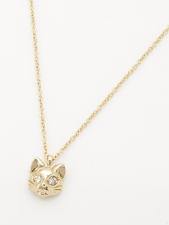 ゴールド猫ネックレス