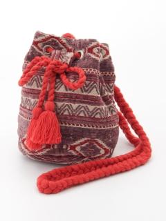 インド刺繍巾着バッグ