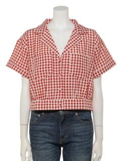 プリント柄ビッグ開襟シャツ