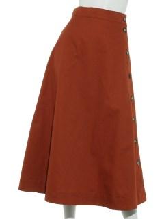 脇ボタンチノロングスカート