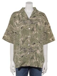 マーブルプリントBIGシャツ