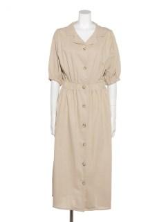 綿麻開襟羽織りワンピース