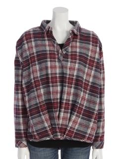 2点セット(ネルチェックシャツ×長袖tシャツ)