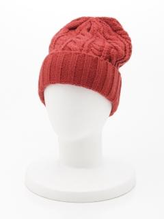 ケーブルニット帽