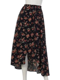 花柄コーデュロイヘムスカート